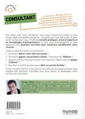 Consultant ; se lancer, réussir et durer (3e édition) - 4ème de couverture - Format classique