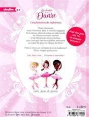 Une, deux, trois danseuses ; la magie de la danse ; 5 histoires de ballerines - 4ème de couverture - Format classique