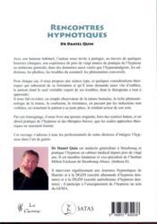 Rencontres hypnotiques - 4ème de couverture - Format classique