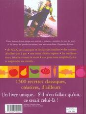Le livre de cuisine ; 1500 recettes - 4ème de couverture - Format classique