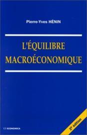 L'equilibre macroeconomique - Couverture - Format classique