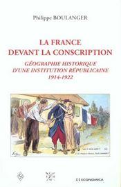 France Devant La Conscription - Intérieur - Format classique