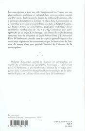 France Devant La Conscription - 4ème de couverture - Format classique