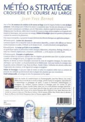 Météo et stratégie ; croisière et course au large - 4ème de couverture - Format classique