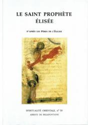 Saint prophete elisee - Couverture - Format classique