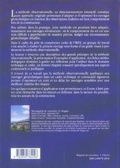 La Methode Observationnelle Pour Le Dimensionnement Interactif Des Ouvrages - 4ème de couverture - Format classique