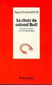 La Chute Du Colonel Redl - Couverture - Format classique