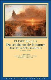 Du sentiment de la nature dans les sociétés modernes ; et autres textes - Intérieur - Format classique