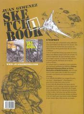 Sketchbook Juan Gimenez t.1 - 4ème de couverture - Format classique