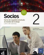 Socios 2 Libro Del Alumno + Cd - Nouvelle Edition - Intérieur - Format classique