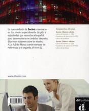 Socios 2 Libro Del Alumno + Cd - Nouvelle Edition - 4ème de couverture - Format classique