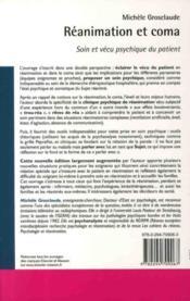 Réanimation et coma (2e édition) - 4ème de couverture - Format classique
