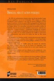 Drogues, sida et action publique ; une très discrète politique de réduction des risques - 4ème de couverture - Format classique