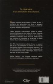 Michel Sardou ; une vie en chantant - 4ème de couverture - Format classique