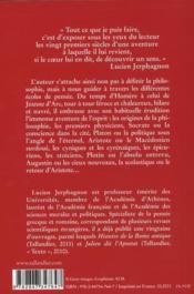 Histoire de la pensée d'Homère à Jeanne d'Arc - 4ème de couverture - Format classique