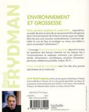 Environnement et grossesse - 4ème de couverture - Format classique