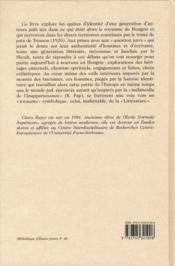 Le royaume littéraire ; quêtes d'identité d'une génération d'écrivains juifs de l'entre-deux-guerres ; Hongrie, Slovaquie, Transylvanie - 4ème de couverture - Format classique