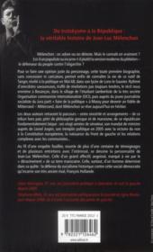 Mélenchon le plébéien - 4ème de couverture - Format classique