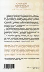 Chroniques odontologiques des rois de France et de la dynastie napoléonienne - 4ème de couverture - Format classique