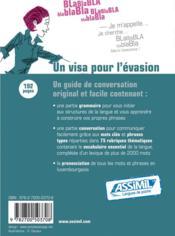 Guides de conversation ; luxembourgeois de poche - 4ème de couverture - Format classique
