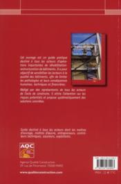 Prévention des risques en réhabilitation-restructuration de grands ouvrages de bâtiment - 4ème de couverture - Format classique