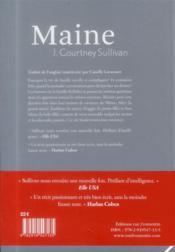 Maine - 4ème de couverture - Format classique