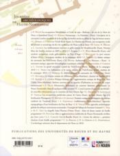 Journées archéologiques de Haute-Normandie 2011 - 4ème de couverture - Format classique