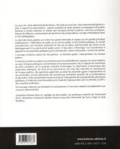 Cours de droit administratif des biens ; domaine public, expropriation, travaux publics (7e édition) - 4ème de couverture - Format classique