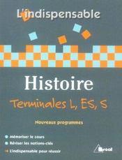 Histoire terminale l/es/s - Intérieur - Format classique