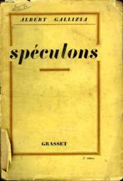 Speculons. - Couverture - Format classique