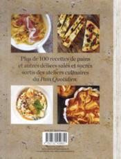 Le pain quotidien ; les authentiques recettes du Pain Quotidien - 4ème de couverture - Format classique