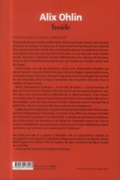 Inside - 4ème de couverture - Format classique
