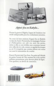 Canons du ciel ; j'étais pilote en Algérie - 4ème de couverture - Format classique