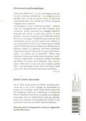 Dictionnaire philosophique - 4ème de couverture - Format classique
