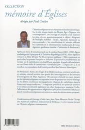 Contributions a une histoire du catholicisme (papaute, aquitaine, france et outre-mer) - 4ème de couverture - Format classique