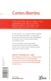 Contes libertins - 4ème de couverture - Format classique