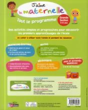 J'Aime La Maternelle ; Tout Le Programme ; Grande Section - 4ème de couverture - Format classique