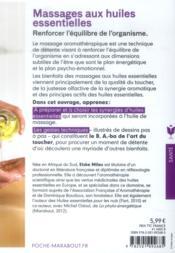 Massages aux huiles essentielles - 4ème de couverture - Format classique