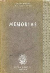 Memorias - Couverture - Format classique