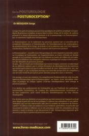 De la posturologie à la posturoception - 4ème de couverture - Format classique