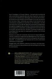 L'université et ses territoires ; dynamismes des villes moyennes et particularités de sites - 4ème de couverture - Format classique
