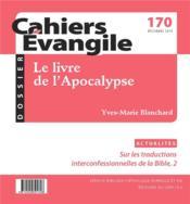 Cahiers de l'Evangile ; apocalypse CE 170 - Couverture - Format classique