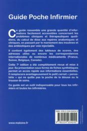 Guide poche infirmier, 7e ed. - 4ème de couverture - Format classique