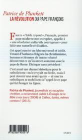 Face à l'idole argent ; la révolution du pape François - 4ème de couverture - Format classique