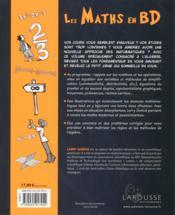 Les maths en BD t.1 ; l'algèbre - 4ème de couverture - Format classique