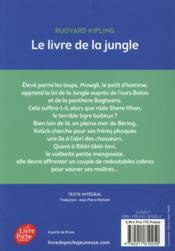 Le livre de la jungle - 4ème de couverture - Format classique