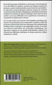 Autismes et psychanalyses t.2 ; autismes et TSA : spécificités des pratiques psychanalytiques - 4ème de couverture - Format classique
