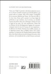 La divine comédie ; enfer - 4ème de couverture - Format classique