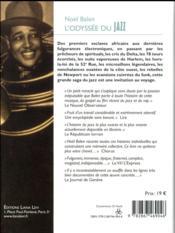 L'odyssée du jazz (édition 2017) - 4ème de couverture - Format classique