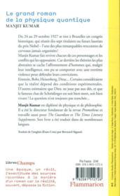 Le grand roman de la physique quantique ; Einstein, Bohr... et le d2bat sur la nature de la réalité - 4ème de couverture - Format classique